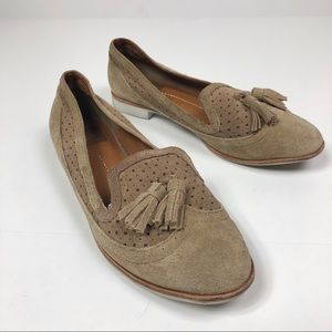 Dolce Vita Suede Wingtip Loafers with Tassels
